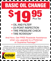 Coupon for Basic Oil Change in Lincoln, NE : $19.95 Plus Tax. Oil and Filter, Check Fluids, 7-Point Courtesy Check