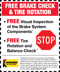 Coupon for Tires in Milwaukee: $20 Off. The purchase of two tires.