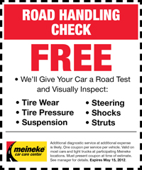Coupon for Fall Maintenance Check in Milwaukee: FREE. Tires, brakes, filters, wipers, coolant, battery, and more!