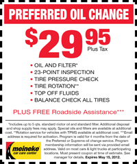 Coupon for Preferred Oil Change in Milwaukee: $29.95 Plus Tax. Oil and filter, top-off fluids, lubricate chassis, balance check front tires, 12-point courtesy check